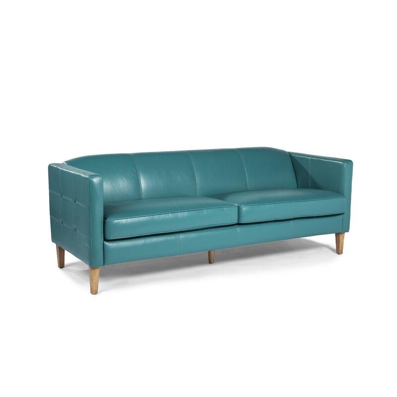 Aqua Leather Sofa Perfect Aqua Blue Leather Sofa 14 In