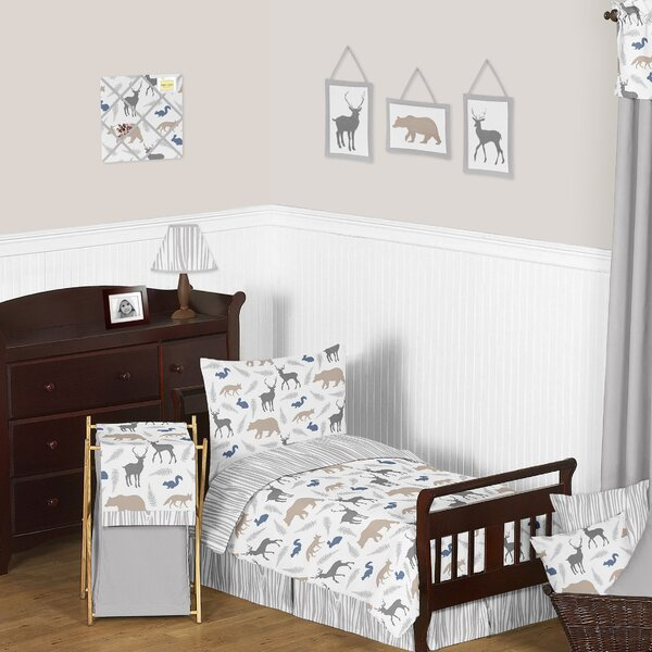 Woodland Animals Toddler Bed Skirt by Sweet Jojo Designs