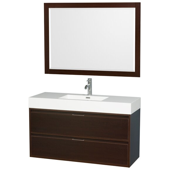 Daniella 47 Single Bathroom Vanity Set with Mirror by Wyndham Collection