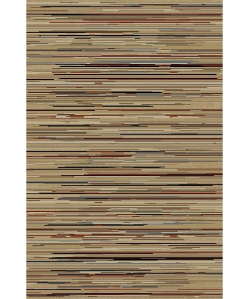 Jewel Striation Gold Stripes Area Rug by Threadbind