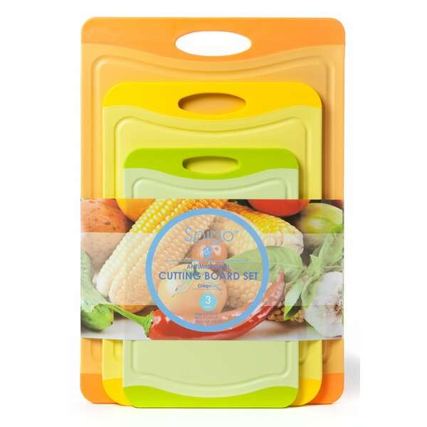 Spigo Antimicrobial 3 Piece Cutting Board Set by Spigo