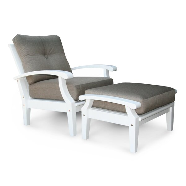 Lowery Patio Chair with Cushions by Rosecliff Heights