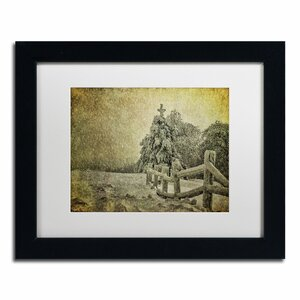 Oh Christmas Tree in Snow by Lois Bryan Framed Photographic Print by Trademark Fine Art
