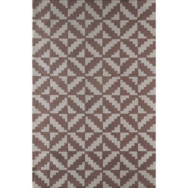 Hisey Hand-Tufted Brown/Gray Area Rug by Brayden Studio