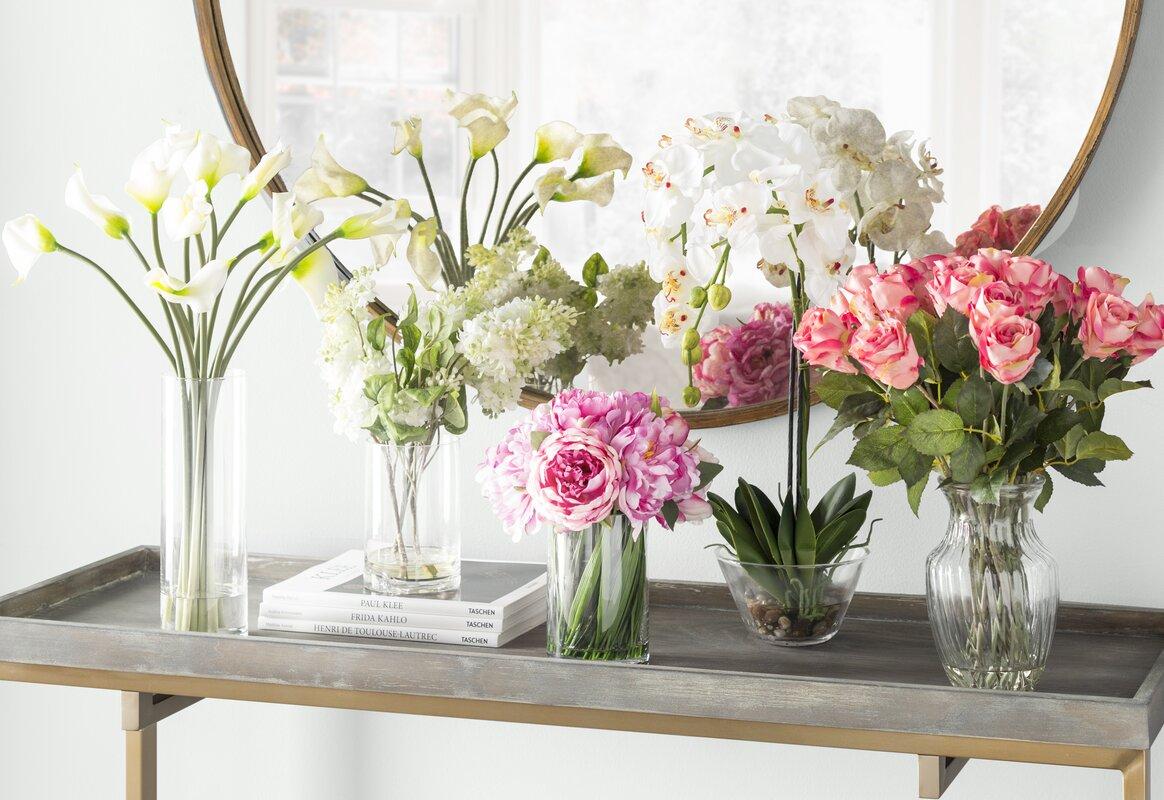 Quincy lilac silk flower arrangement in vase reviews