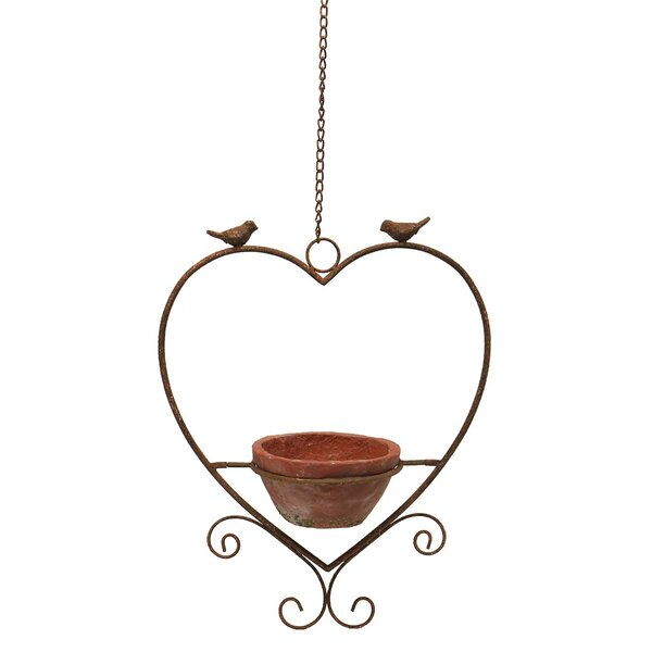 Stocchetti Rustic Heart Hanging Pot Planter by August Grove