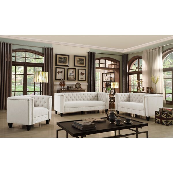 Broughtonville Chesterfield 3 Piece Living Room Set by iNSTANT HOME