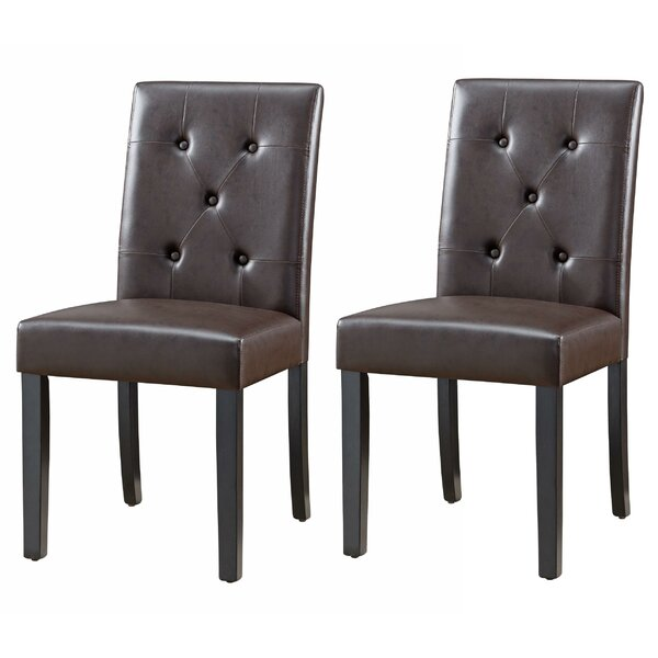 Manha Tufted Upholstered Parsons Dining Chair (Set Of 2) By Winston Porter