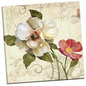 Fleurs de Paris 1 by E. Franklin Graphic Art on Wrapped Canvas by Portfolio Canvas Decor