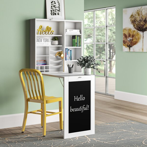 White Craft Desk With Storage Wayfair