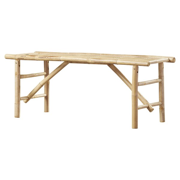 Whobrey Wood Folding Bench by Bay Isle Home