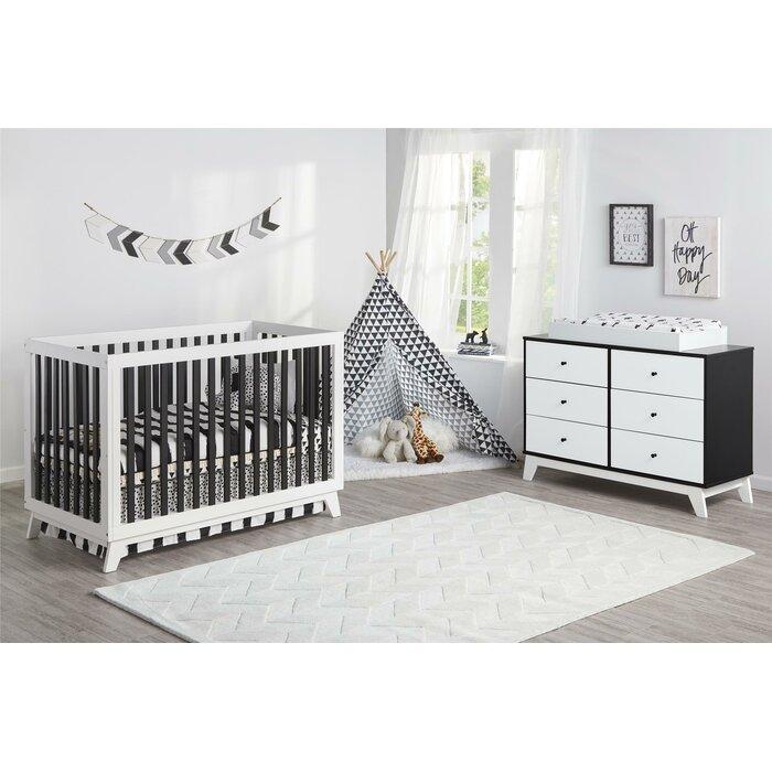Rowan Valley Flint Convertible Standard 2 Piece Nursery Furniture Set