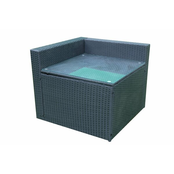 Vermili Outdoor Wicker Table by Wrought Studio