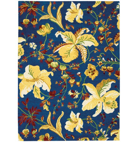 Jonah Hand-Tufted Blue/Yellow Area Rug by Darby Home Co
