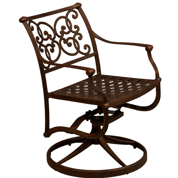 Palmhurst Swivel Patio Dining Chair (Set of 2) by Fleur De Lis Living