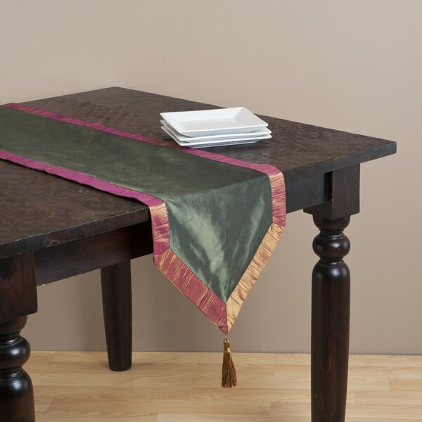 Luminous Two-Tone Table Runner by Saro
