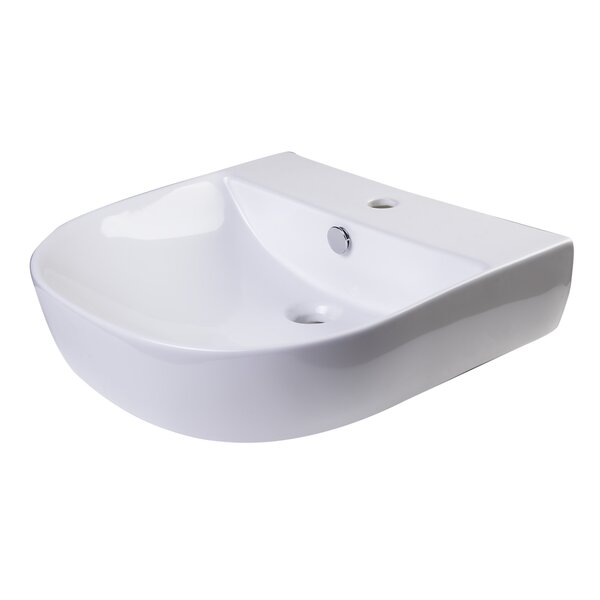 D-Bowl Metal 20 Wall Mount Bathroom Sink with Overflow by Alfi Brand