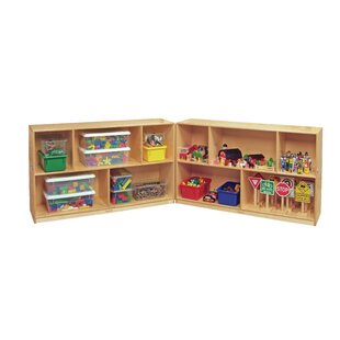 Inexpensive Korners for Kids Mobile Hide-Away 10 Compartment Shelving Unit By Childcraft