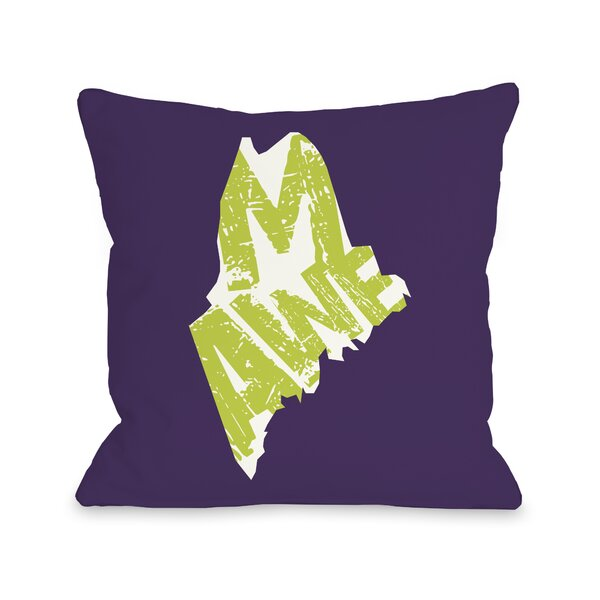Maine State Throw Pillow by One Bella Casa