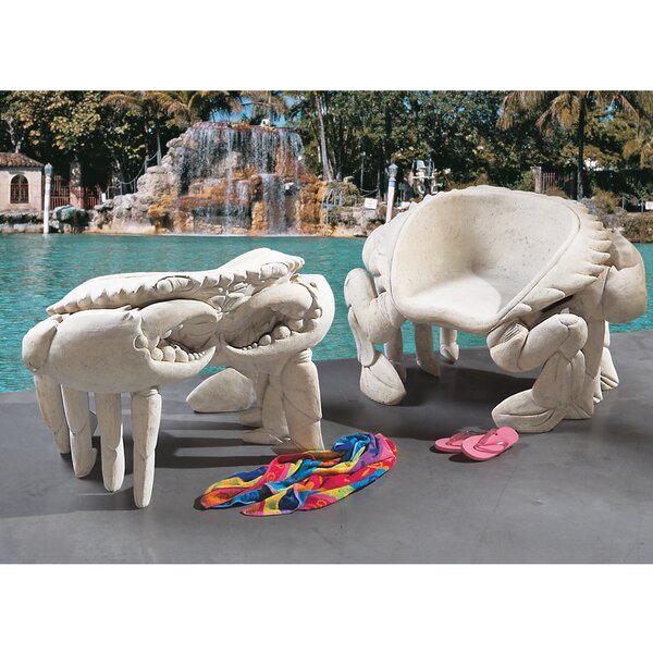 Spice Islands Sculptural King Crab Side Chair by Design Toscano