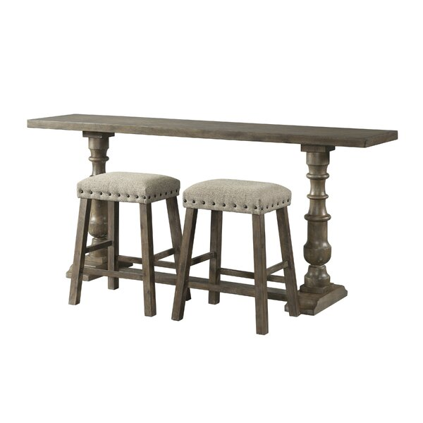 Schweitzer 3 Piece Pub Table Set by Gracie Oaks