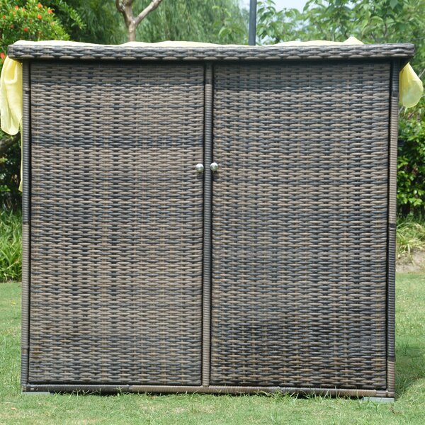 Store-It-Out Max 4 ft. 1 in. W x 2 ft. 6 in. D Metal Horizontal Garbage Shed by Direct Wicker