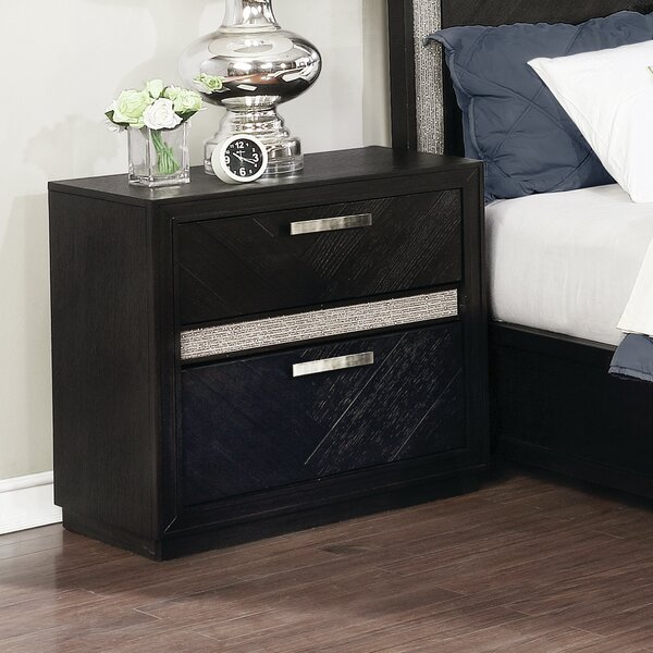 Aranmore 2 Drawer Nightstand by Orren Ellis
