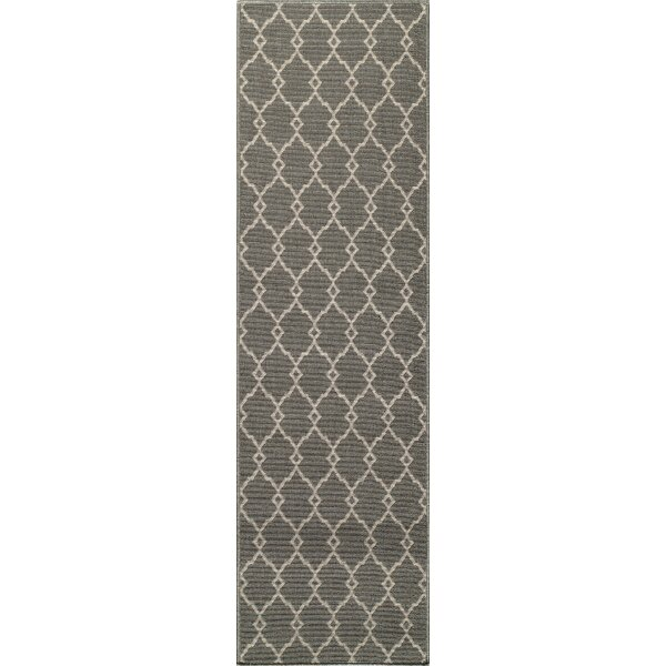 Halliday Gray Area Rug by Beachcrest Home