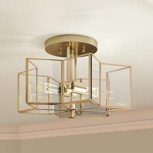Boswell 2-Light Flush Mount ByWilla Arlo Interiors