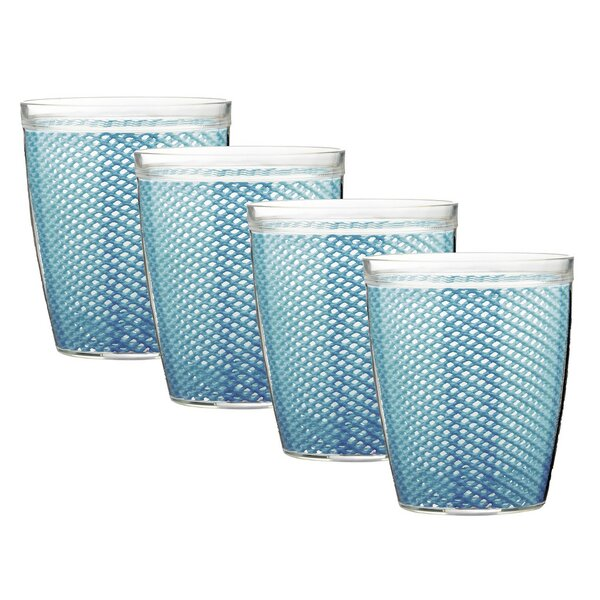 Adelyte Yarrow Doublewall 14 oz. Plastic/Acrylic Every Day Glasses (Set of 4) by Highland Dunes