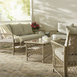 Lake 4 Piece Sofa Set with Cushions By Beachcrest Home