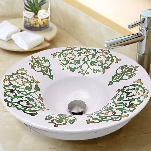 Regatta Ceramic Circular Drop-In Bathroom Sink