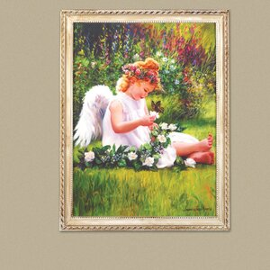 Garden Angel Framed Painting Print by Zingz & Thingz