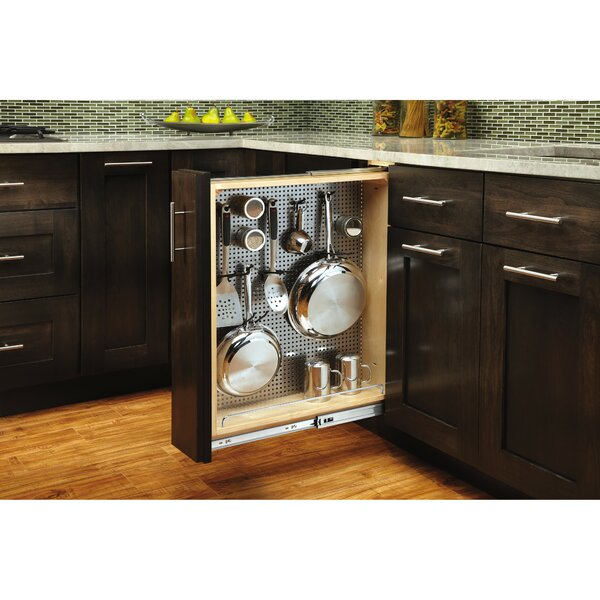 Stainless Steel Base Pullout Drawer by Rev-A-Shelf