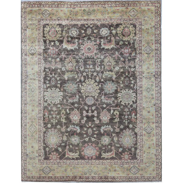 Oriental Hand-Knotted Wool Brown/Gold Area Rug