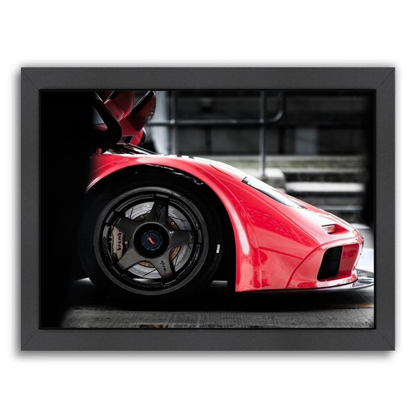 Red Car 2 Framed Photographic Print by East Urban Home