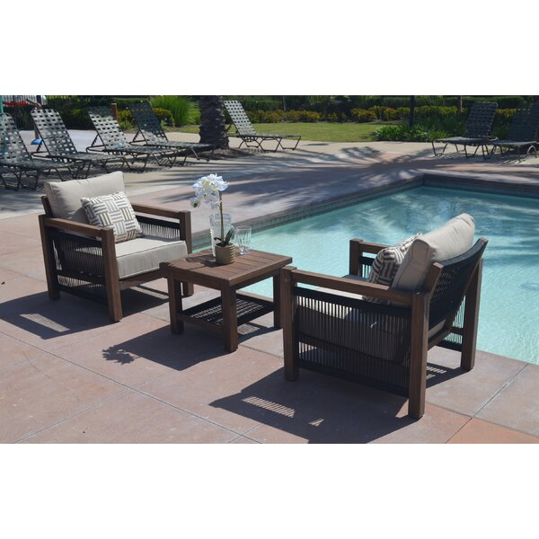 Rovel 3 Piece Seating Group with Cushions by Ivy Bronx