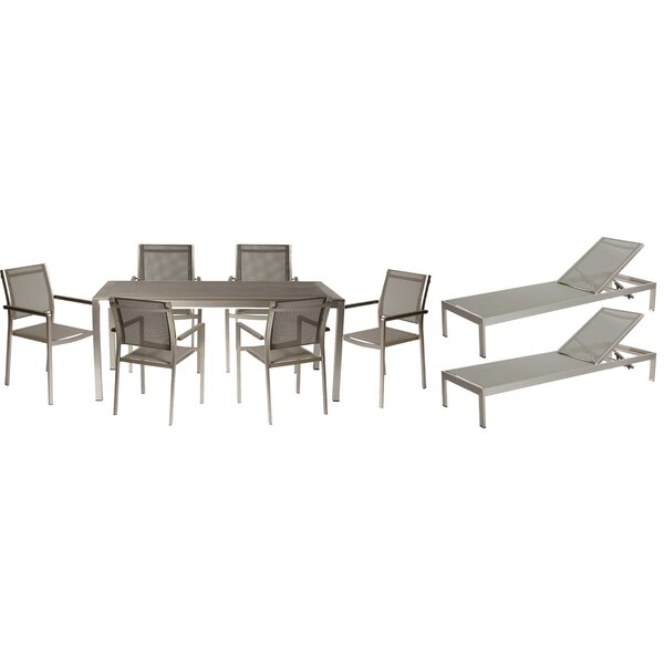 Dorsey 9 Piece Patio Set by Wade Logan