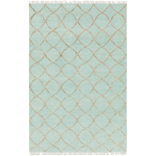 Ravenstein Hand-Woven Blue Area Rug by Bungalow Rose