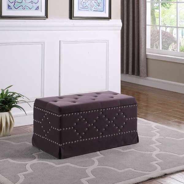 Amador Nailhead Studs Tufted Upholstered Storage Bench By Mercer41