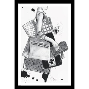 'Bag Lady' Graphic Art Print by Picture Perfect International
