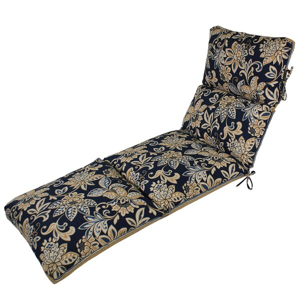 Channeled Reversible Indoor/Outdoor Chaise Lounge Cushion (Set of 2) by Comfort Classics Inc.