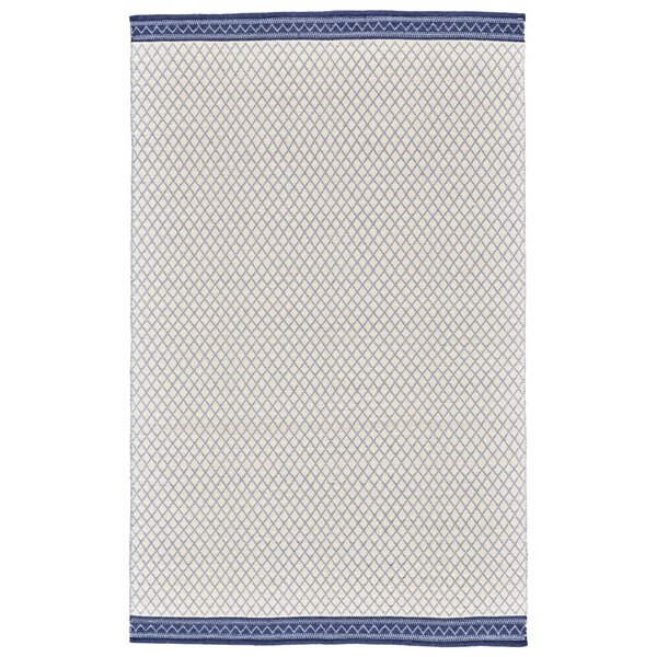 Pimentel Flat Woven Wool Blue Area Rug by Union Rustic