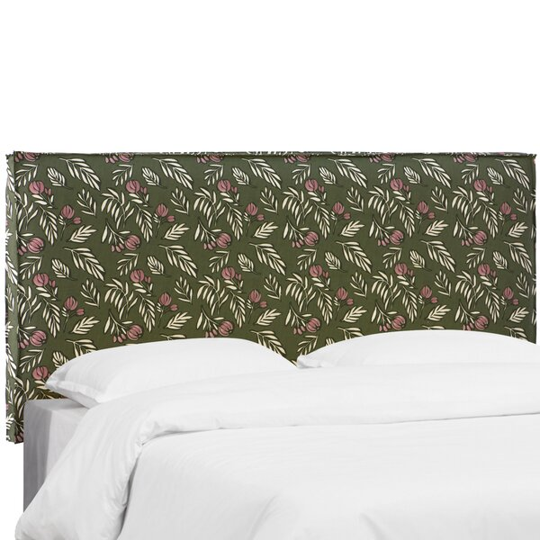 Mariela Seam Slipcover Debris Floral Upholstered Panel Headboard by Brayden Studio