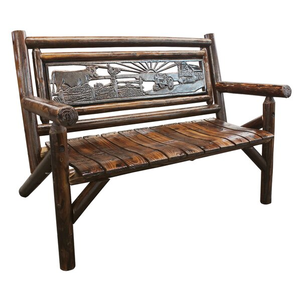 Ardoin Double Garden Bench by Loon Peak Loon Peak