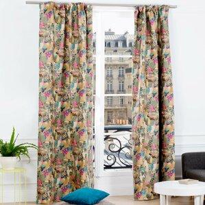 Jungle Birds Wildlife Pinch Pleat Single Curtain Panel