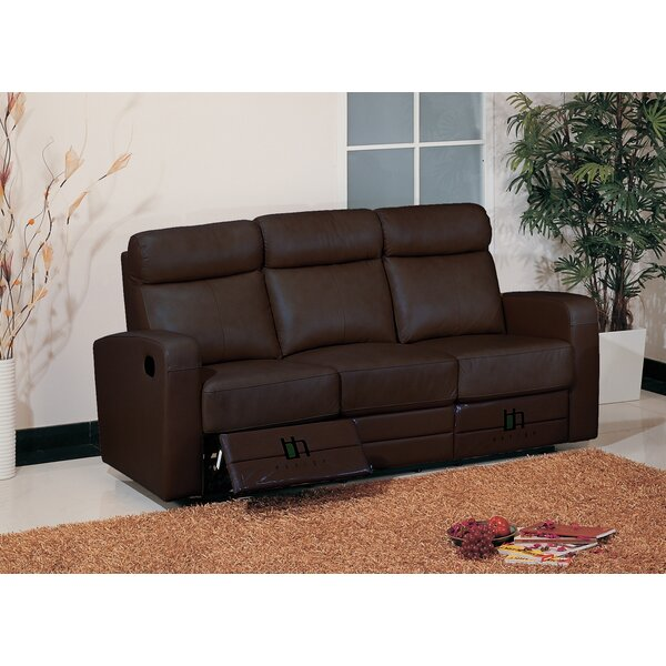 Modern Brand Leather Leather Reclining Sofa by Hokku Designs by Hokku Designs