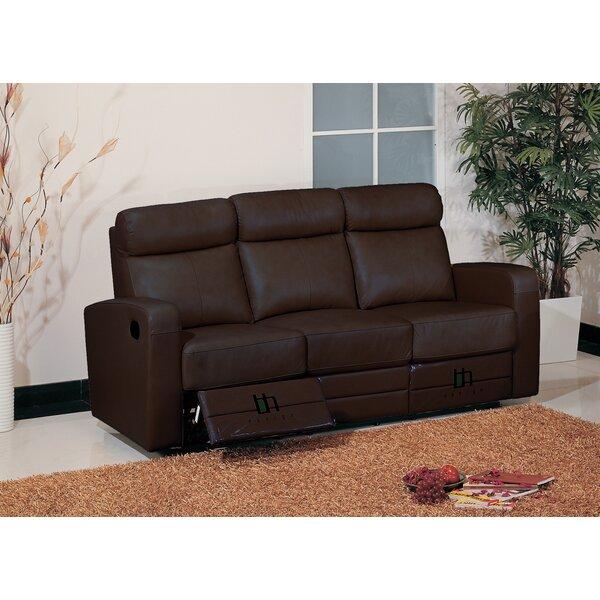 Winter Shop Leather Leather Reclining Sofa by Hokku Designs by Hokku Designs