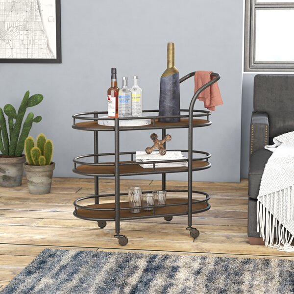 Mchaney Bar Cart By Williston Forge Cheap