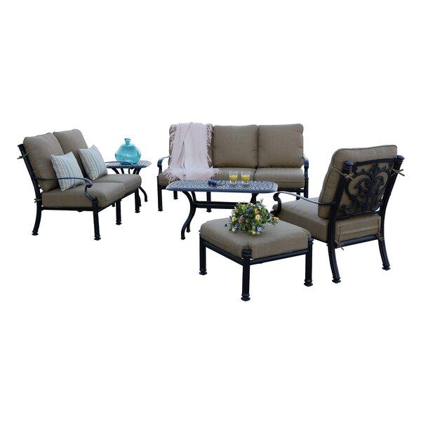 Batista 6 Piece Sofa Set with Cushions by Fleur De Lis Living